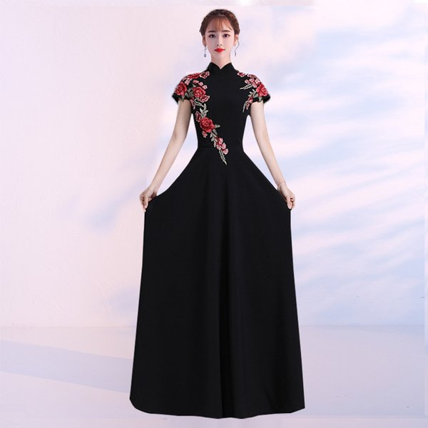 Fashion Wedding Party Cheongsam Oriental Evening Dress Chinese Style Women Elegant Qipao Sexy Long qipao Retro Vestido XS-3XL