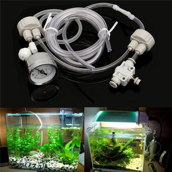 2 systèmes de générateur Aquarium DIY 2 Kit de système de générateur avec réglage du débit d'air de la pression de la plante aquatique Fish Tank Aquarium 2 Valve