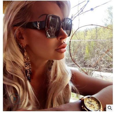 Негабаритные Солнцезащитные Очки Мужчины Женщины Роскошные Прозрачные Градиент Солнцезащитные Очки Большая Рамка Старинные Очки UV400 Очки для Леди