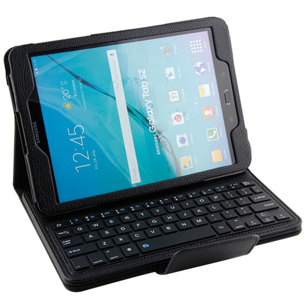 "For Samsung Galaxy Tab S2 T815 / Tab A T550 9.7"" Wireless Bluetooth Keyboard Folios Leather Case 2in1 Cover Shell Skin"