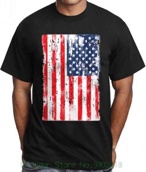 Usa American Us Flag T Shirt For Men Stylish Graphic Design Tee Urban Clothing Design T Shirt Men's High Quality