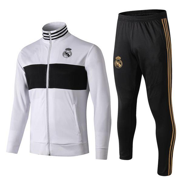 camiseta de futbol 2019 2020 Veste de survêtement de football du Real Madrid 18 19 20 chandal Veste de football KROOS ISCO BALE MODRIC ASENSIO Survetement