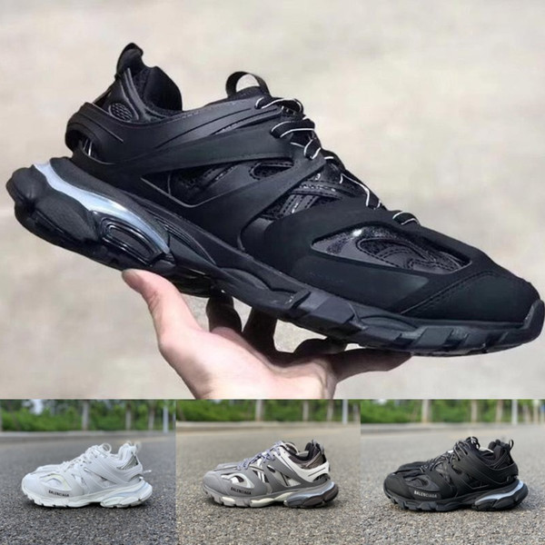 19SS Track LED Trainers 3.0 Luces de colores tess Paris Mens Designer Shoes For women Triple S Luxe Sneakers Running Shoes Tamaño 36-45