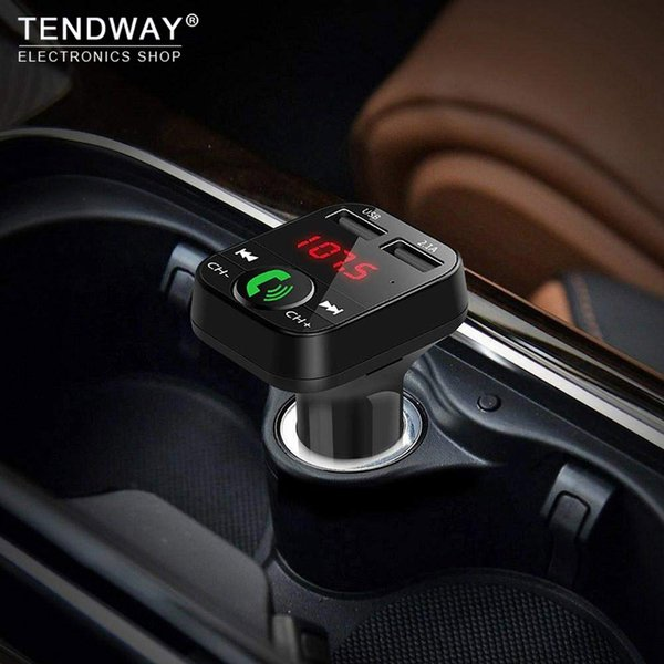 best selling Car Phone Charger Wireless Bluetooth Car Kit Led Display Mobile Multi Usb Charger Fm Transmitter Mp3 Player Car Charger