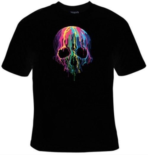 Schmelzender Schädel T-Shirt Männer Harajuku Sommer 2018 T-Shirt Jeanskleidung Unterhemd T-Shirt