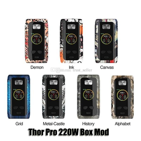 100% Original Think Vape Thor Pro 220W Box Mod Dual 18650 Battery VW TC Mod For 510 Thread Tank Authentic