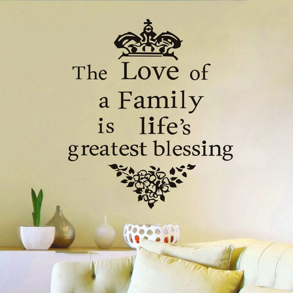 The Love A Family Is Life S Greatest Blessing Wall Sticker Wall Decal Removable Vinyl Home Decoration Art Wall Decor Removable Wall Stickers