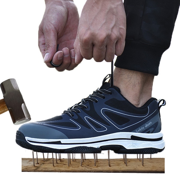 Men's Safety Shoes for Men Outdoor Indestructible Work shoes plus size 36-47 steel toe Woman factory Repair Sneakers man