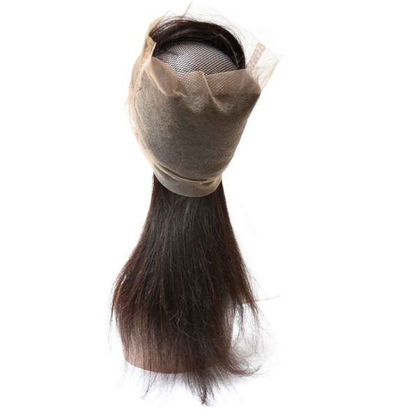 Best Brazilian Human Hair 360 Lace Frontal Closures Body Wave Wavy Straight Grade 10A Natural Black 8inch to 22inch Cheap Factory Female