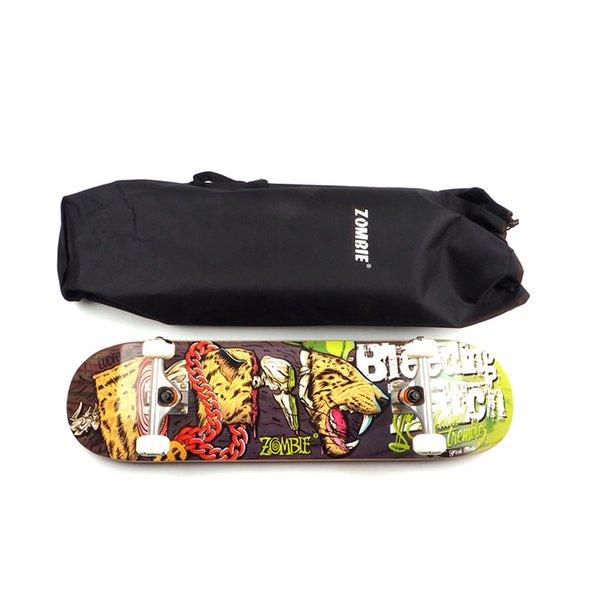 Сумка для скейтборда с двойным рюкзаком Рюкзак с одиночным рокером Сумки для переноски Рюкзак с плоской пластиной для хранения Longboard Мешок для воды