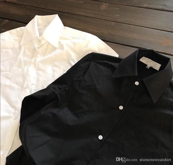 Vendi come torte calde Mens Designer Classic Joker Shirt Fashion Allentato Red Heart tinta unita Coppia Brand Camicia Casual