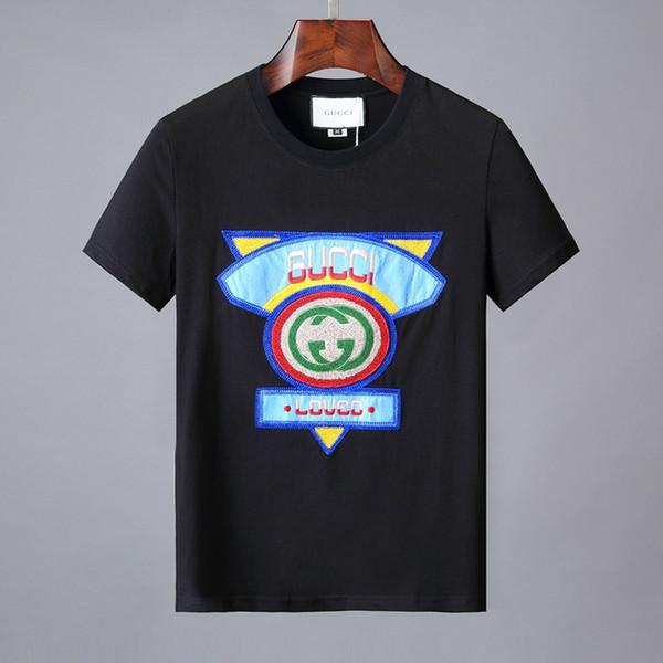 SıCAK marka tasarımcısı polo gömlek t-shirt çiçek nakış erkek polos yüksek sokak moda çizgili baskı polo gömlek T-shirt M-3XL