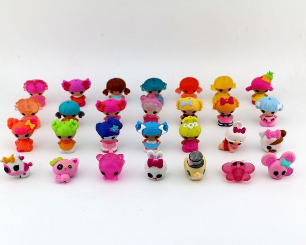 free shipping wholesale action figure mini toy cake topper MGA MINI Lalaloopsy pretty girls promotion gift toys for girls