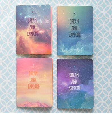 best selling New Galaxy Star Sky City Lights Summer Beach A6 Notebook Diary Book Exercise Composition Notepad Gift Stationery