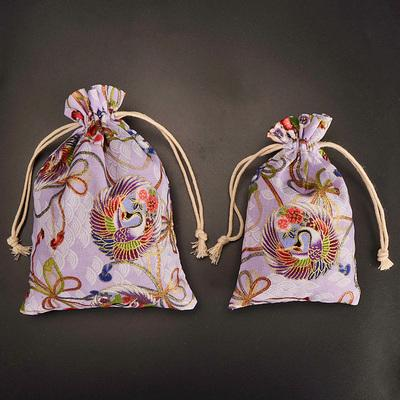 New Peacock phoenix Pattern Gift Pouch Drawstring Cotton Linen Bag Jewelry Packaging Bag Christmas Party Small Cloth Bags 3pcs/