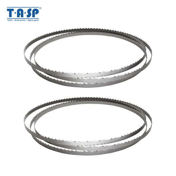 top popular TASP 2pcs Wood Band Saw Blade 1400 x 6.35 x 0.35mm Bandsaw Blades Woodworking Tools for Wood Cutting TPI 6 10 15 2020