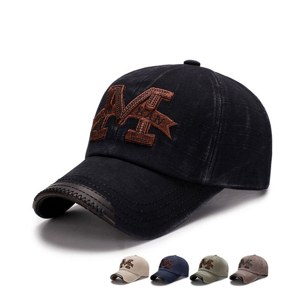 New Washed Baseball Cap Fitted Cap Snapback Hat For Men Bone Women Gorras Casual Casquette Embroidery Vintage Dad Hat