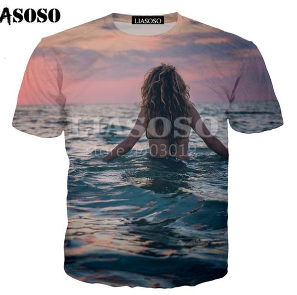 Fashion Men/Women 3D Print Pretty bikini girl Casual T-Shirt Short Sleeve U33