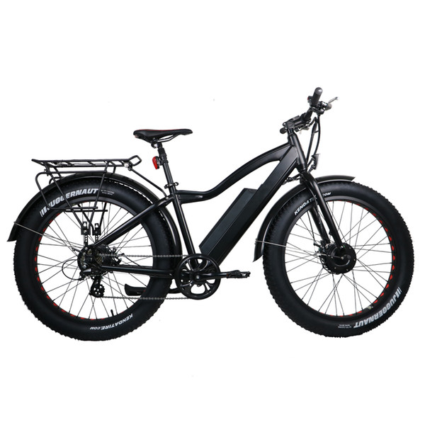 7speed Electric Fat Bike 36V 11AH Lithium Battery 2 Wheel Drive Electric bike Electric Mountain Bicycle Road Cycling US CA free shipping