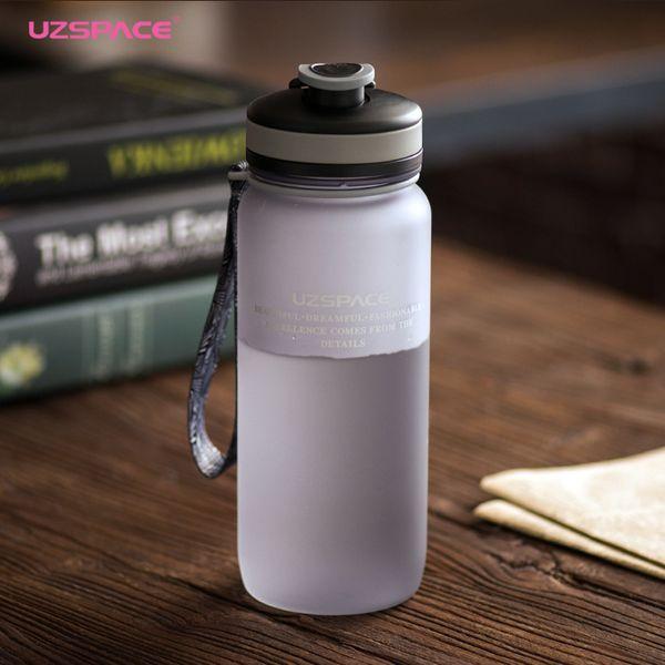 Uzspace 650/1000ml Sports Bottle Portable Shaker Travel Gym Climbing Cycling My Plastic Drink Bottles For Water Tritan(bpa Free) T8190627