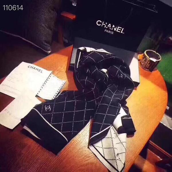 2019 New Brand шерстяной шарф для женщин 2019 Осень и Зима Дизайнер Письмо цветок Длинные Шарфы Wrap 180 * 70 Шали