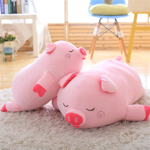 40-100cm Bigger size toys Cartoon pink pig plush toys fat pig pillow soft cushion Chinese zodiac pig doll birthday gift kid baby