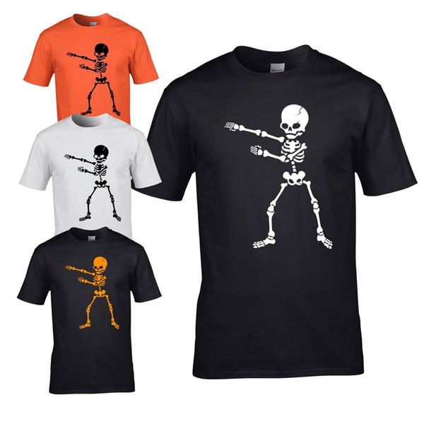Flossing Skeleton Mens T-shirt - Halloween Scary Mens Costume Fancy Dress Top Men Women Unisex Fashion tshirt