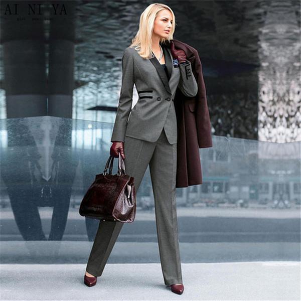 Customized slim slimming temperament ladies suit two-piece suit (jacket + pants) ladies business office official business wear