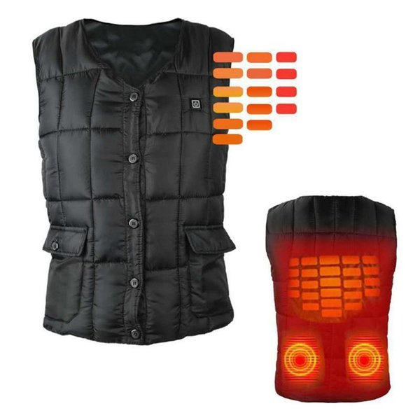 best selling Smart Clothing Exothermic Vest Three-Speed Temperature Control Adjustable Electric Vest Winter Warm Heating