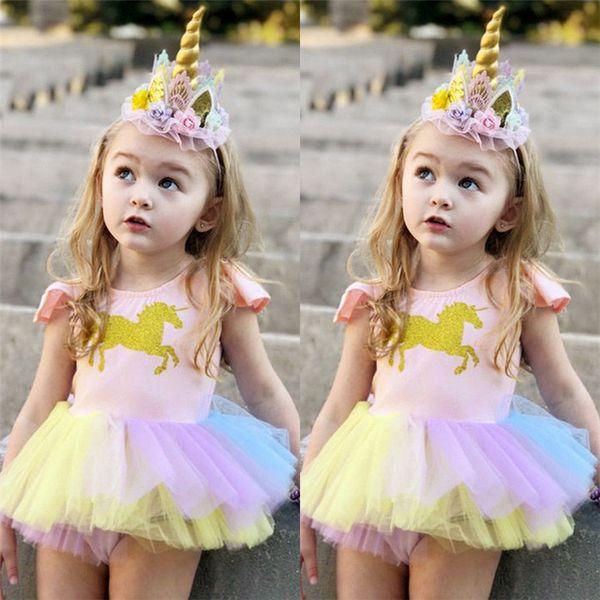 Compre Ins Summer Girls Vestidos Unicornio Para Niñas Vestidos Niños Ropa De Diseño Niñas Sin Mangas Niños Ropa Jy24 A 742 Del Clothing01