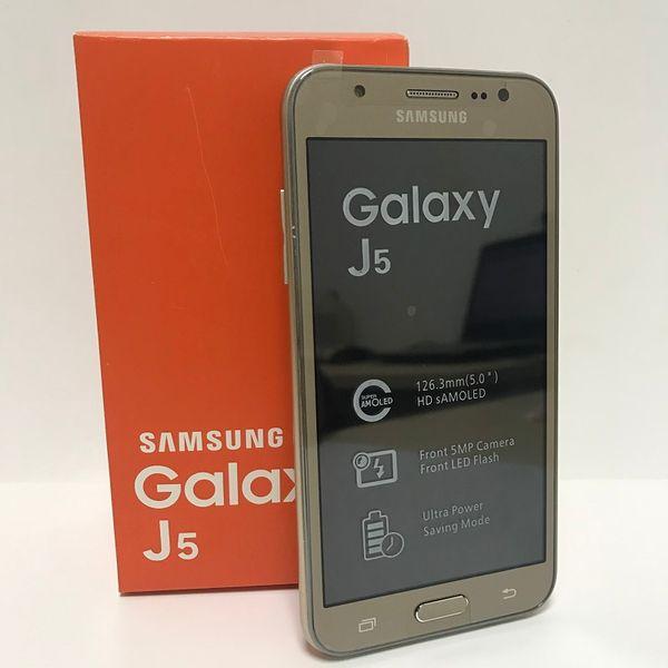 geüberholtes Samsung setzte Handy-Galaxie J5 J500F Doppel-Sim 4G LTE Viererkabel-Kern 1.5GB 16GB J5 Samsung intelligentes Telefon frei