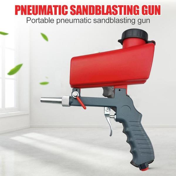 Портативный мини Ручной Краскопульт пневматический пистолет Sandblaster Пескоструйная электроинструмент Главная Детали для подрезки и ржавчины Удаление