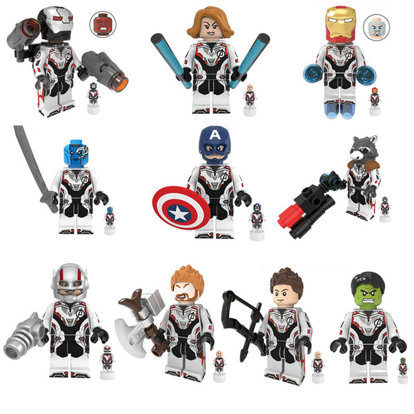 10pcs Avengers Mini Toy Figure Thor Hawkeye Black Widow Super Hero Superhero Figure Building Block Toy Compatible With Most Leading Brands