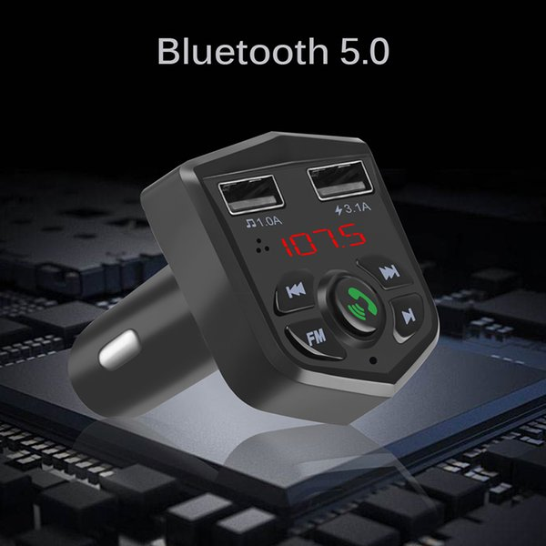 Onever 5V/3.1A Bluetooth 5.0 FM Transmitter MP3 Player Car Kit Handsfree Wireless Quick Charge USB Charger Fit TF Card12-24V NEW
