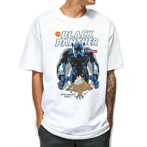 LRG X Marvel мужская Черная Пантера Vibranium футболка Белый Ваканда одежда тройник