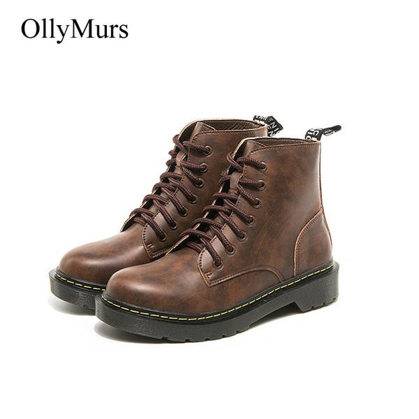 Retro Compre Martin Mujer Zapatos Con Plataforma Botas q8wg8Tt