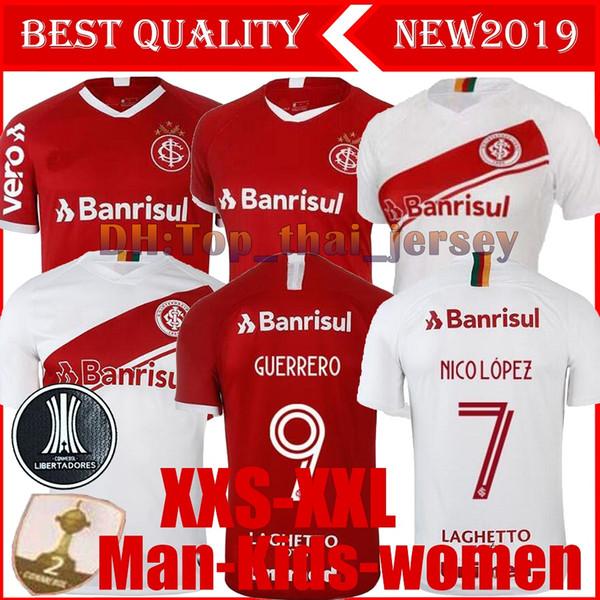 NUEVO 19 120 Camiseta de fútbol de Brasil Internacional del CLUB RED HOME mujeres 2019 camiseta de fútbol de visitante N. LOPEZ D.ALESSANDRO POTTKER CALIDAD SUPERIOR