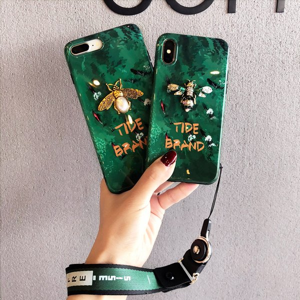 2019 nova chegada telefone case designer de abelha para iphonex / xs max / xr 7 plus / 8 plus 7/8 6 s / 6sp6 / 6 s protetora tampa traseira caso de telefone dois estilo
