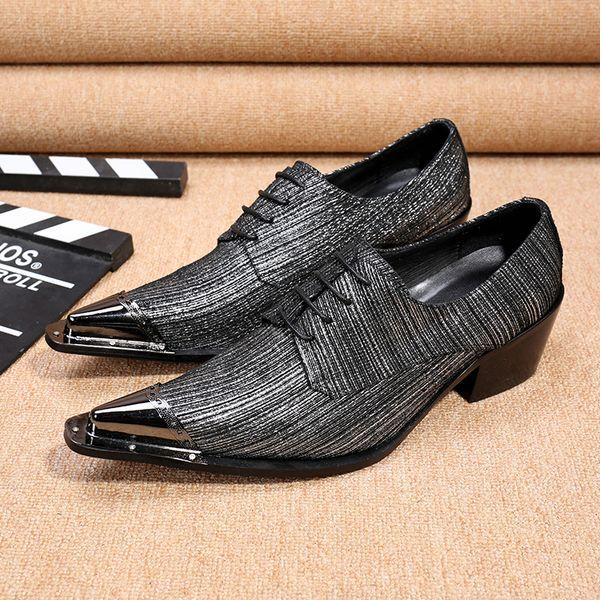 zapatos para hombre italianos marcas brillo zapatos de cuero genuino mocasines de hierro puntiagudos boda mariage formal hombres