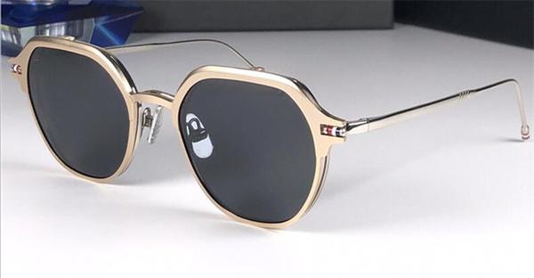 Nuevo diseñador de moda gafas de sol 812 marco redondo simple flip óptico de doble uso estilo popular uv400 protección gafas al por mayor de calidad superior
