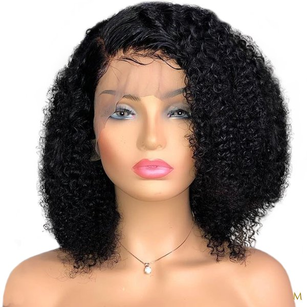 Afro Yaki Kinky Curly Wig Black Short Like Human Hair Wigs for Black Women