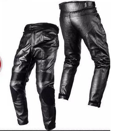 2018 DUHAN preto de couro PU Calças de Corrida de Motocicleta Calças de Brim almofadas de armadura gavetas calças de corrida calças de montaria DK05