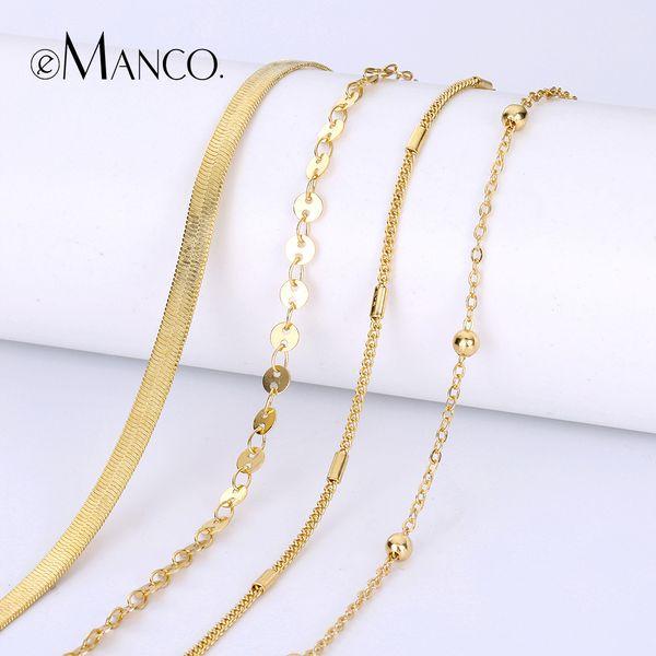 Cheap Chain & Link Bracelets eManco Hot Bracelet For Women Gold Color Adjustable Chain Bracelets Jewelry Gift For Women Fashion Jewelry