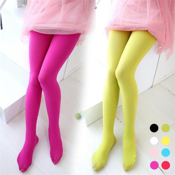 Kids Girls Leggings 9 Colors Candy Color 3-16t Girls Velour Elastic Leggings Ballet Dance Socks Kids Designer Clothes Girls Pantyhose SS172