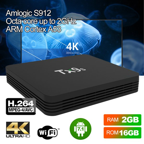 Android 7.1 Internet TV BOX  2.4G 4K IPTV Quad-Core WiFi Media Player Keyboard
