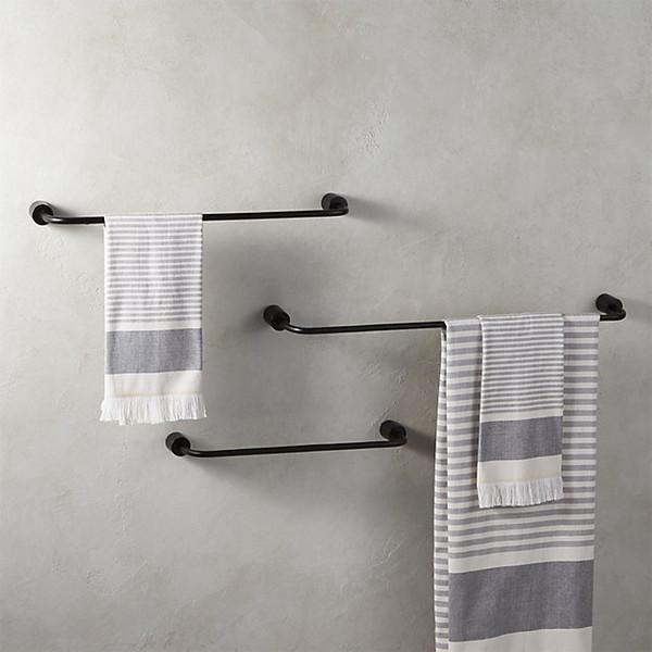 Accessori porta asciugamani da bagno in alluminio nero