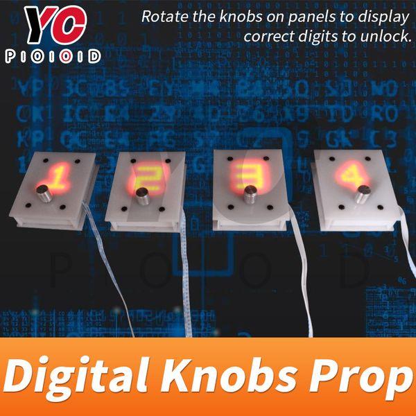 YOPOOD Dijital Topuzlar Prop kaçış odası oyunu odasının kilidini açmak için doğru sayıları metal topuzu döndürmek tedarikçisi