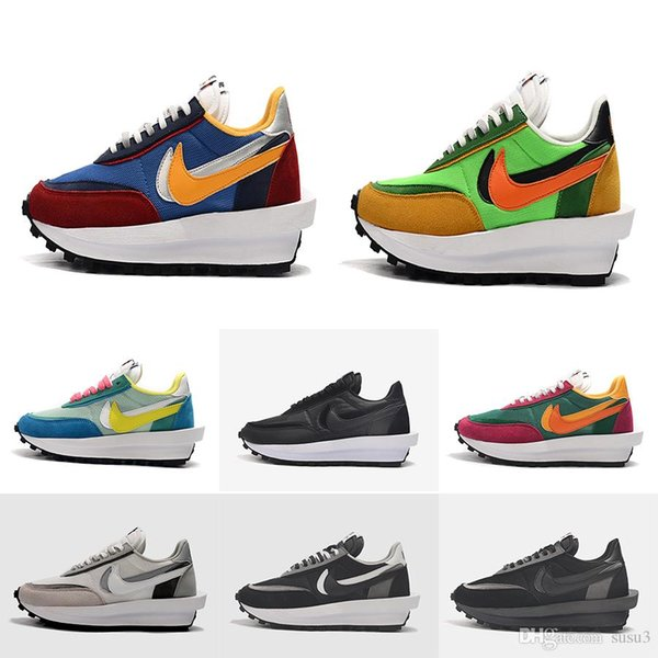 best selling Fashion Sacai LDV Waffle running shoes for men women black white grey pine Green Gusto Varsity Blue mens trainers sports sneakers