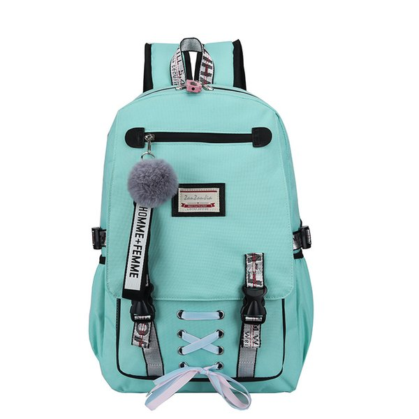 Women Large School Bag For Girls Teenage Usb With Lock Anti Theft Backpack Book Bag Big High School Youth Leisure College