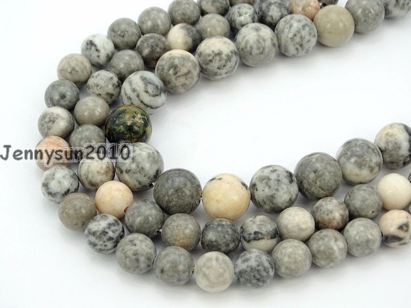 Natural Rose Ag-ate Gems Stone Round Beads 15.5'' Strand 4mm 6mm 8mm 10mm 12mm for Jewelry Making Crafts 5 Strands/Pack